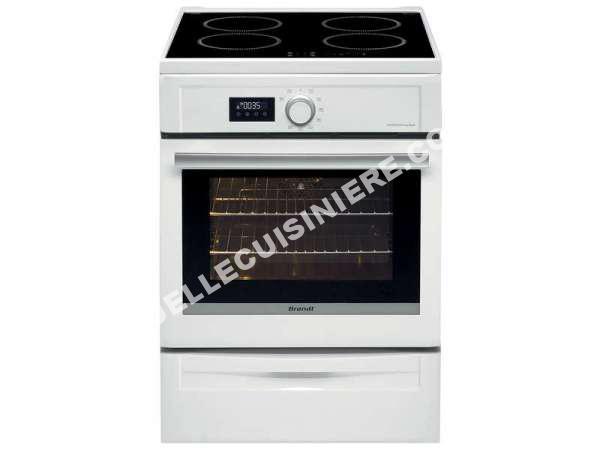 cuisiniere brandt cuisini re lectrique 60 cm bci6652w au meilleur prix. Black Bedroom Furniture Sets. Home Design Ideas