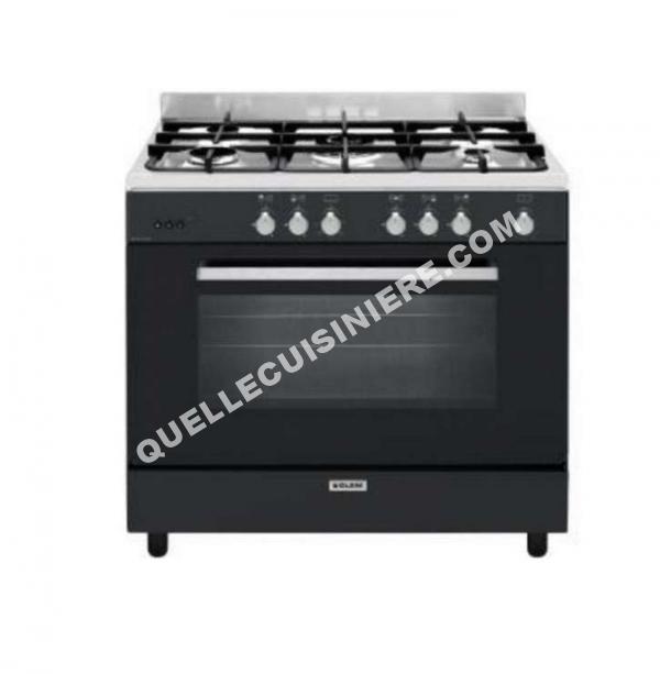 cuisiniere glem ge960cmbk cuisini re gaz 130l 5 feux au meilleur prix. Black Bedroom Furniture Sets. Home Design Ideas