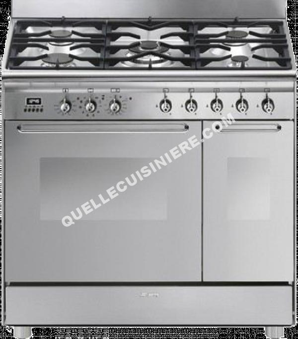 cuisiniere smeg cg92x9 au meilleur prix. Black Bedroom Furniture Sets. Home Design Ideas