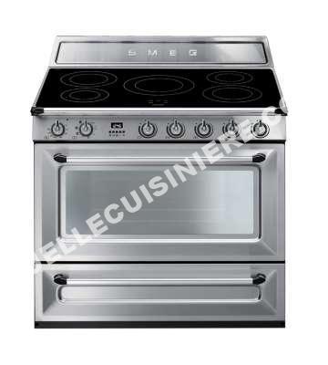 cuisiniere smeg cuisini re induction tr90ix au meilleur prix. Black Bedroom Furniture Sets. Home Design Ideas