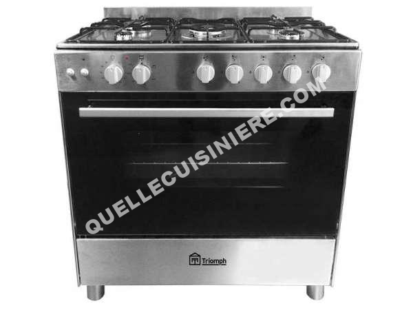 cuisiniere triomph cuisini re gaz 80 cm tm802gx au meilleur prix. Black Bedroom Furniture Sets. Home Design Ideas
